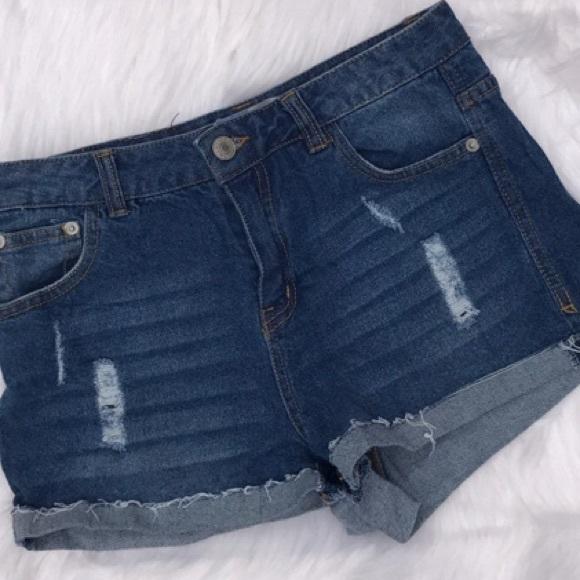 Love Tree Pants - Love Tree Denim Shorts
